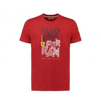Scuderia Ferrari pánske tričko Track red F1 Team 2018