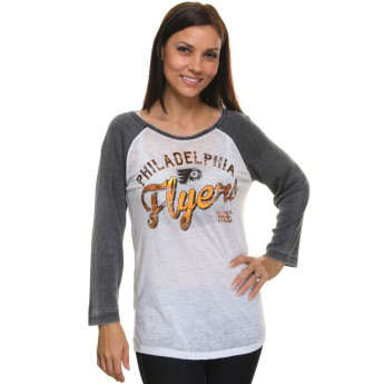 Philadelphia Flyers Dámske tričko Relaxed Thermal Burnout Raglan