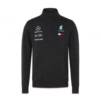 Mercedes AMG Petronas pánska mikina grey Half Zip F1 Team 2018