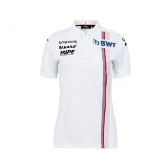 Force India dámske polo tričko white Sahara F1 Team 2018