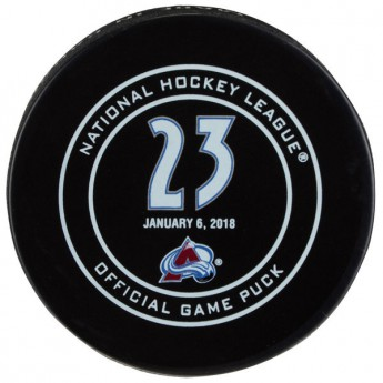 NHL produkty zberateľský puk Milan Hejduk January 6, 2018 Retirement Night Official Game Puck