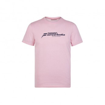 Force India pánske tričko pink Logo Sahara F1 Team 2018