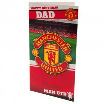 Manchester United narodeninové želanie Birthday Card Dad