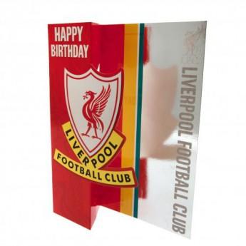 FC Liverpool narodeninové želanie Birthday Card