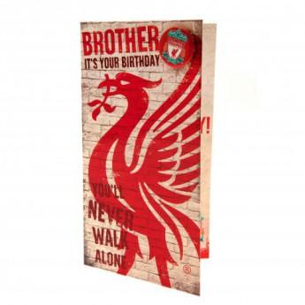 FC Liverpool narodeninové želanie Birthday Card Brother