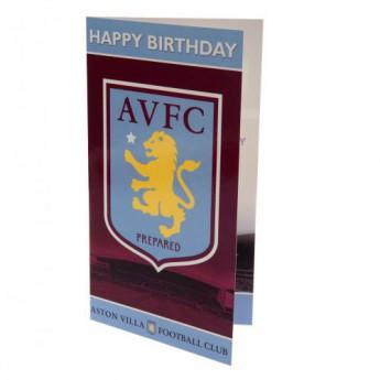 Aston Villa narodeninové želanie Birthday Card