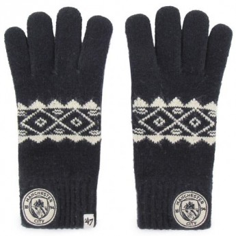 Manchester City pánske rukavice Knitted Gloves Adult Fairisle