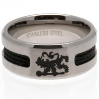 FC Chelsea prsteň Black Inlay Medium
