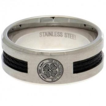 FC Celtic prsteň Black Inlay Medium