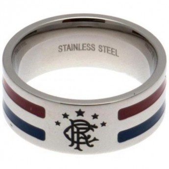 FC Rangers prsteň Colour Stripe Ring Large