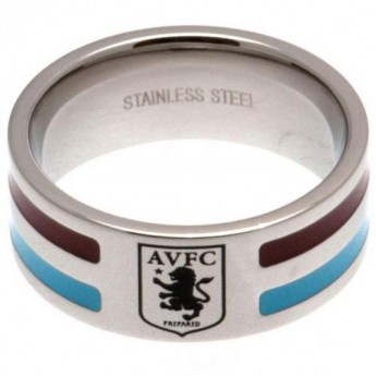 Aston Villa prsteň Colour Stripe Ring Small