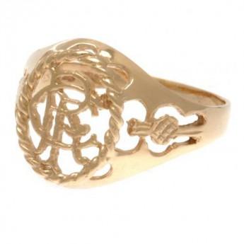 FC Rangers prsteň 9ct Gold Crest Large