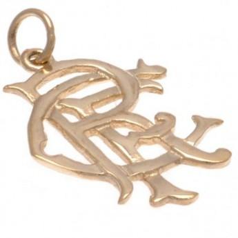 FC Rangers zlatý prívesok 9ct Gold Pendant Small