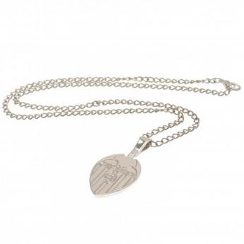 Valencia retiazka na krk s príveskom Silver Plated Pendant & Chain