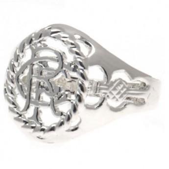 FC Rangers prsteň Silver Plated Crest Ring Medium