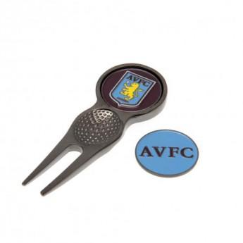Aston Villa set vypichovátka s markovákom Divot Tool & Marker