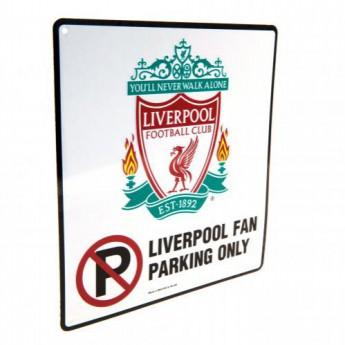 FC Liverpool kovová značka No Parking Sign