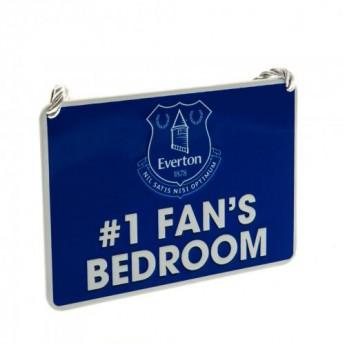 FC Everton značka do spálne Bedroom Sign No1 Fan