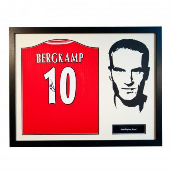 Legendy zarámovaný dres FC Arsenal Bergkamp Signed Shirt Silhouette