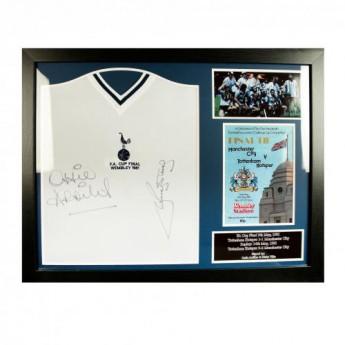 Tottenham zarámovaný dres Ardiles & Villa Signed Shirt (Framed)