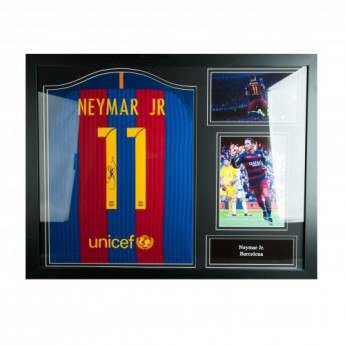 Legendy zarámovaný dres FC Barcelona Neymar Signed Shirt (Framed)