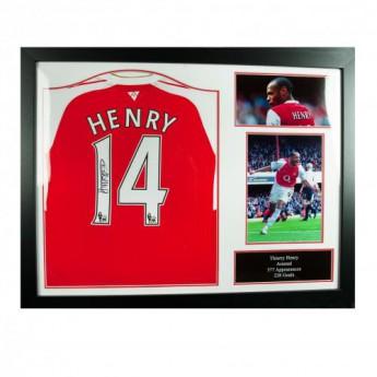 Legendy zarámovaný dres FC Arsenal Henry Signed Shirt (Framed)