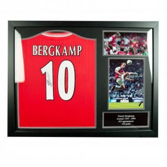 Legendy zarámovaný dres FC Arsenal Bergkamp Signed Shirt (Framed)