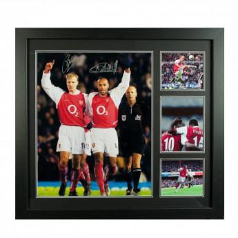 Legendy obrázok v rámčeku FC Arsenal Bergkamp & Henry Signed Framed Print