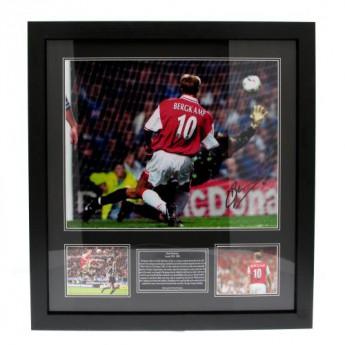 Legendy obrázok v rámčeku FC Arsenal Bergkamp Signed Framed Print
