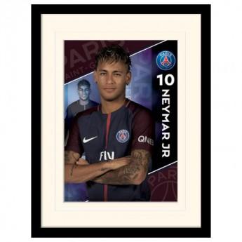 Paris Saint German obrázok v rámčeku Neymar 16 x 12