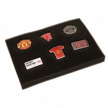 Manchester United set odznáčikov 6 Piece Badge Set