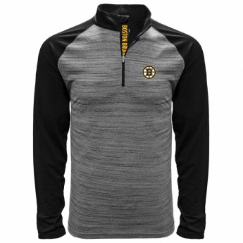 Boston Bruins pánska mikina grey Vandal Quarter Zip Midlayer