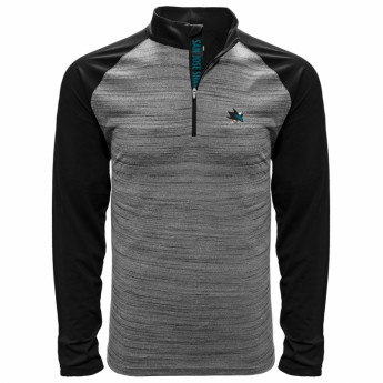 San Jose Sharks pánska mikina grey Vandal Quarter Zip Midlayer