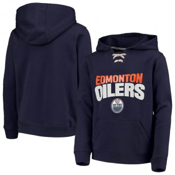 Edmonton Oilers detská mikina s kapucňou Off The Ice Lace-Up Pullover Hoodie