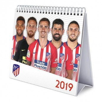 Atletico Madrid stolový kalendár Desktop Calendar 2019