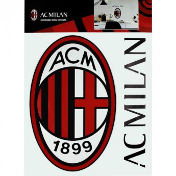 AC Milano samolepky na stenu Wall Sticker A4