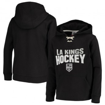 Los Angeles Kings detská mikina s kapucňou Off The Ice Lace-Up Pullover Hoodie