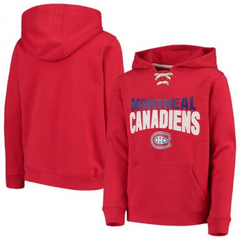 Montreal Canadiens detská mikina s kapucňou Off The Ice Lace-Up Pullover Hoodie