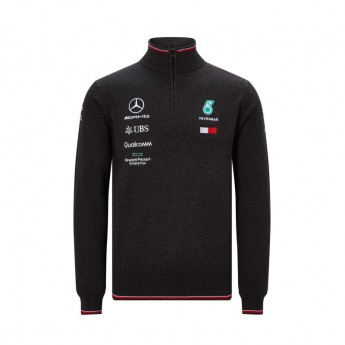 Mercedes AMG Petronas pánska mikina black Half Zip F1 Team 2019