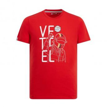 Ferrari pánske tričko red Vettel Fan F1 Team 2019