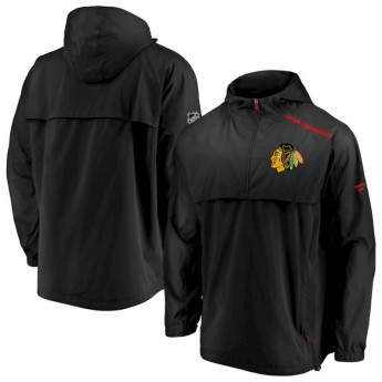 Chicago Blackhawks pánska bunda Authentic Pro Rinkside Anorak 1/4-Zip