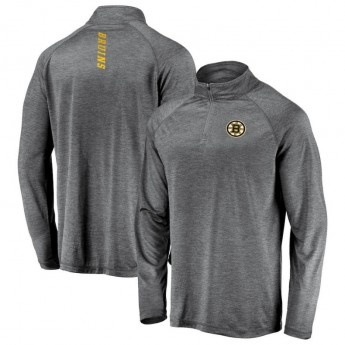 Boston Bruins pánska mikina grey Contenders Welcome Quarter-Zip Pullover