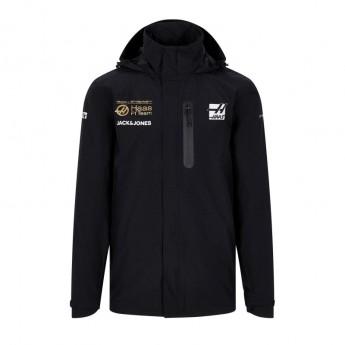 Haas F1 pánska bunda s kapucňou Energy Team Rain black F1 Team 2019