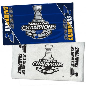 St. Louis Blues osuška WinCraft 2019 Stanley Cup Champions Official Locker Room 2-Sided Towel