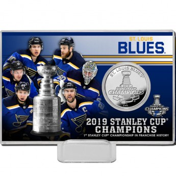 St. Louis Blues pamätné mince Highland Mint 2019 Stanley Cup Champions Silver Coin Card
