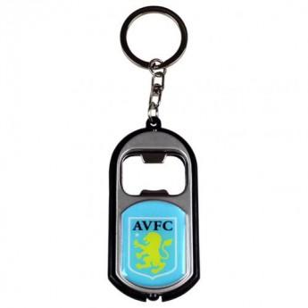 Aston Villa prívesok s otvárakom Key Ring Torch Bottle Opener