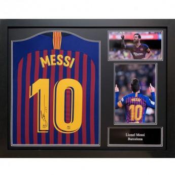 Legendy zarámovaný dres FC Barcelona Messi Signed Shirt (Framed)